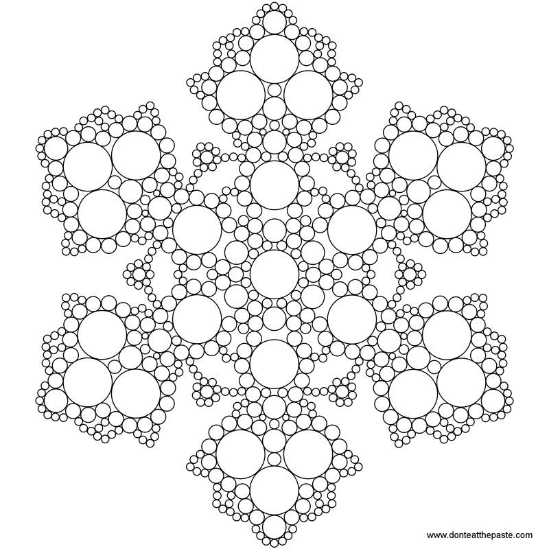 Snowflake Mandala To Color Snowflake Coloring Pages Mandala