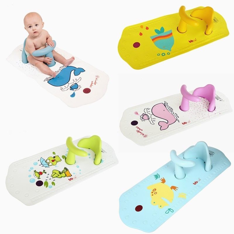Baby Infant Toddler Kids Safety Bath Seat Chair Non-Slip Mat with ...