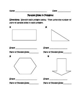 Identifying Parallel Lines In Polygons With Images Teaching
