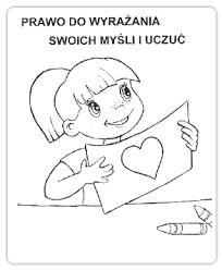 Znalezione obrazy dla zapytania prawa dziecka kolorowanka (With ...