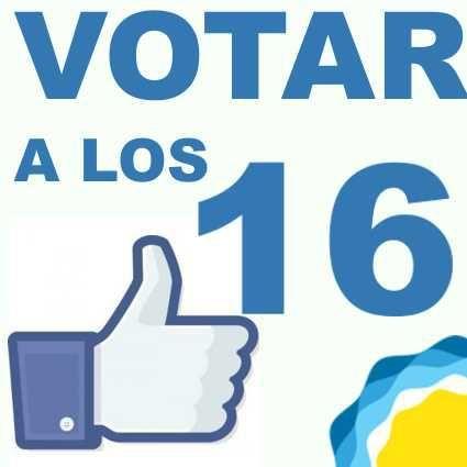Información y debate sobre el derecho al voto a jóvenes desde los 16 años.