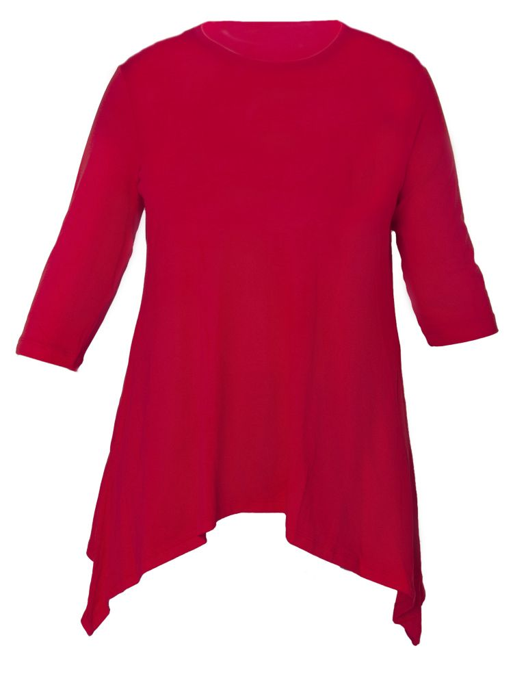Directional Yet Demure Clothing For The Cool Modern Woman: Womens Tunic Top. Long Tunic 3/4 Sleeve