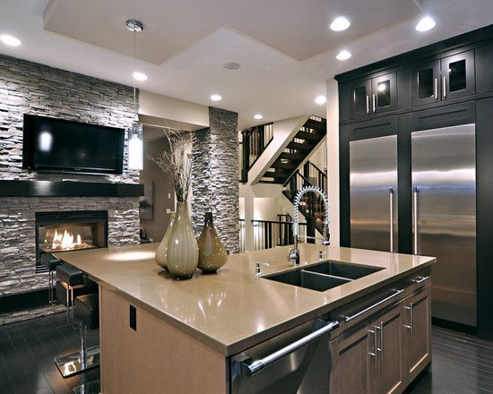 Ridge Home Kitchen Fireplace Home Modern Kitchen