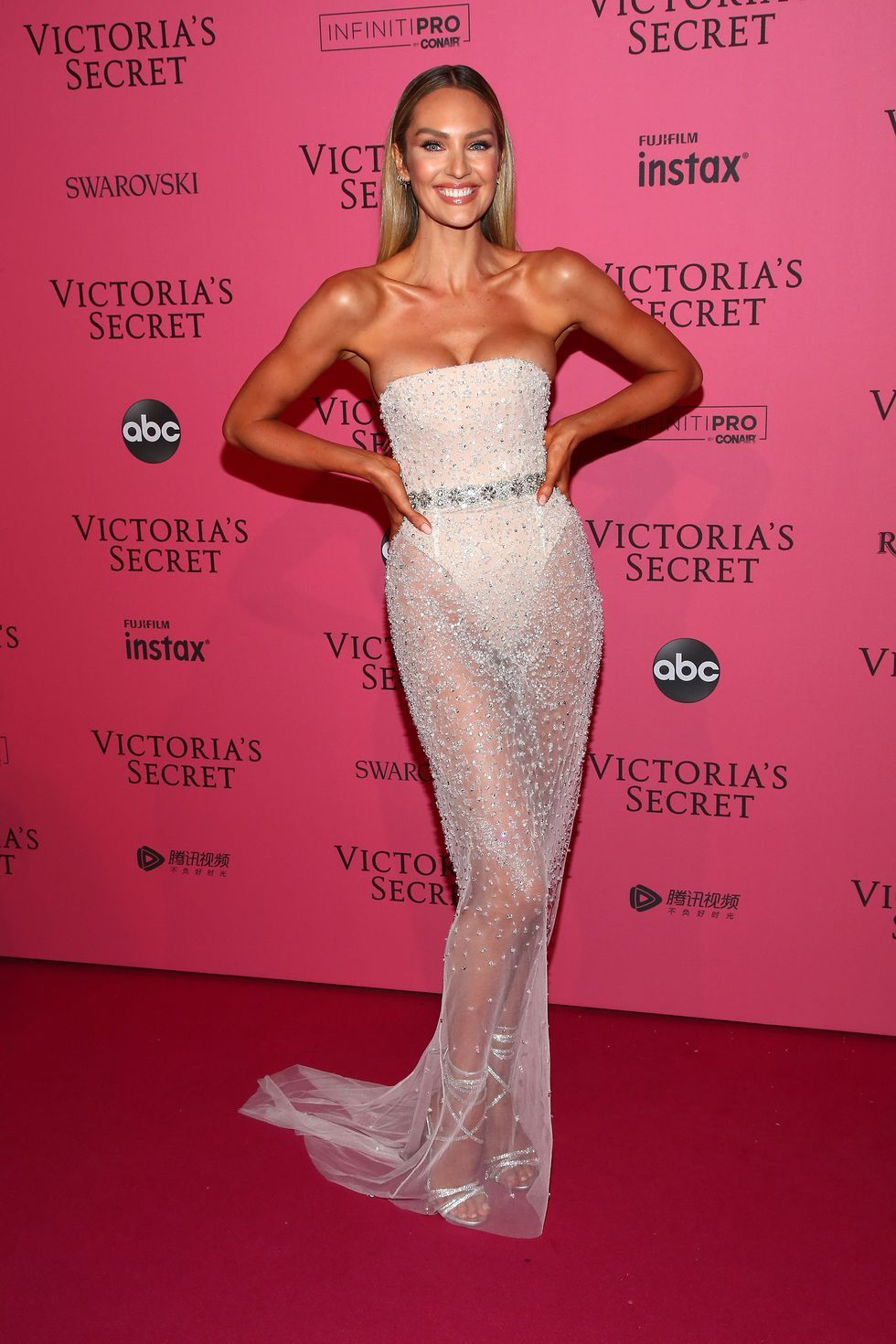 d6878a85bf All the Naked Dresses at the Victoria s Secret Fashion Show After-Party 2018