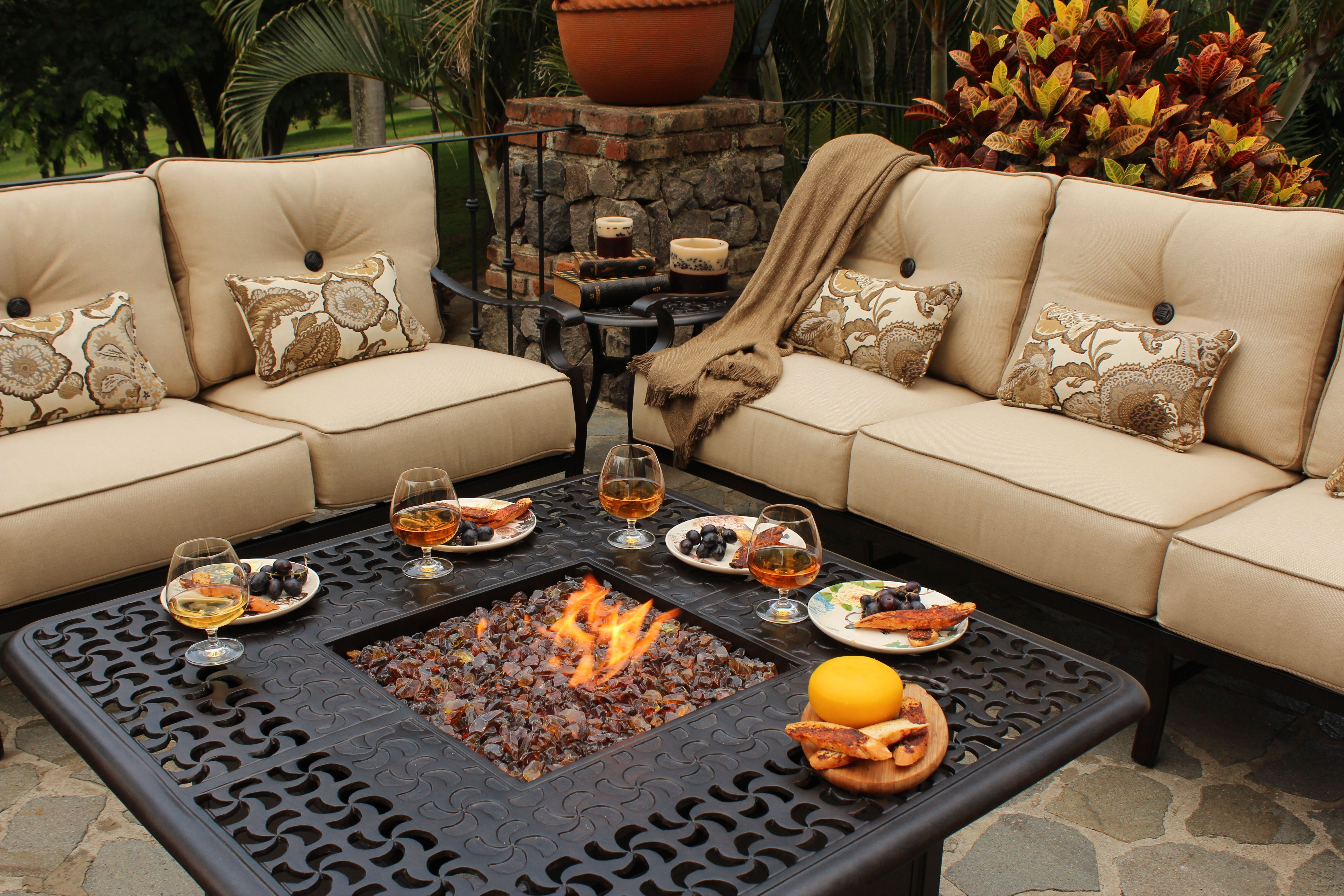 fall fire pits Castelle Firepit by Pride Family Brands