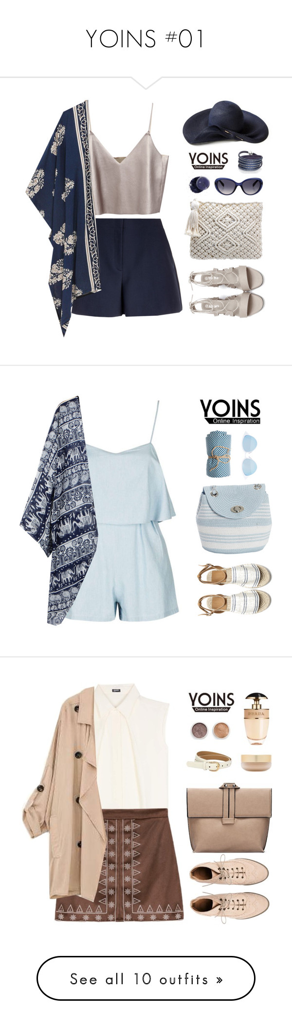 """""""YOINS #01"""" by sweetpastelady ❤ liked on Polyvore featuring outfit, chic, fab, yoins, Theory, Sif Jakobs Jewellery, Emilio Pucci, Banana Republic, Magid and Calypso St. Barth"""