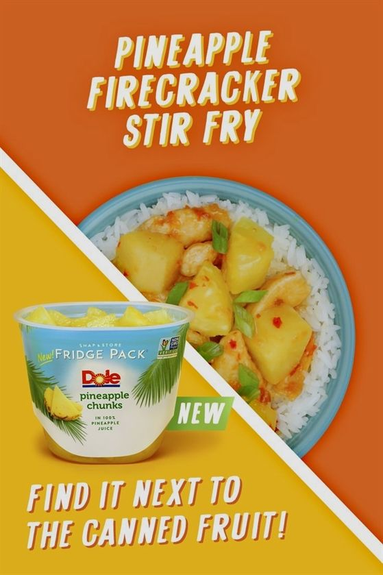 Dole Packaged FoodsThis Pineapple Firecracker Stir Fry is really going to turn… #fiberfruits