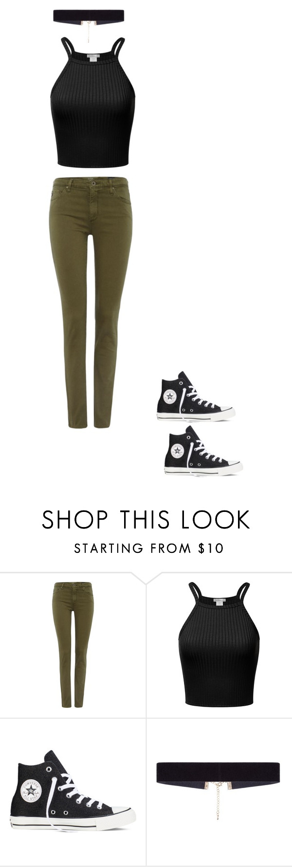 """""""Untitled #440"""" by brain-cosand ❤ liked on Polyvore featuring AG Adriano Goldschmied, Converse and 8 Other Reasons"""