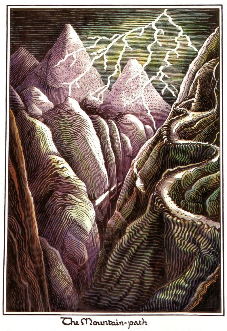 The Mountain path - Tolkien (Hobbit)