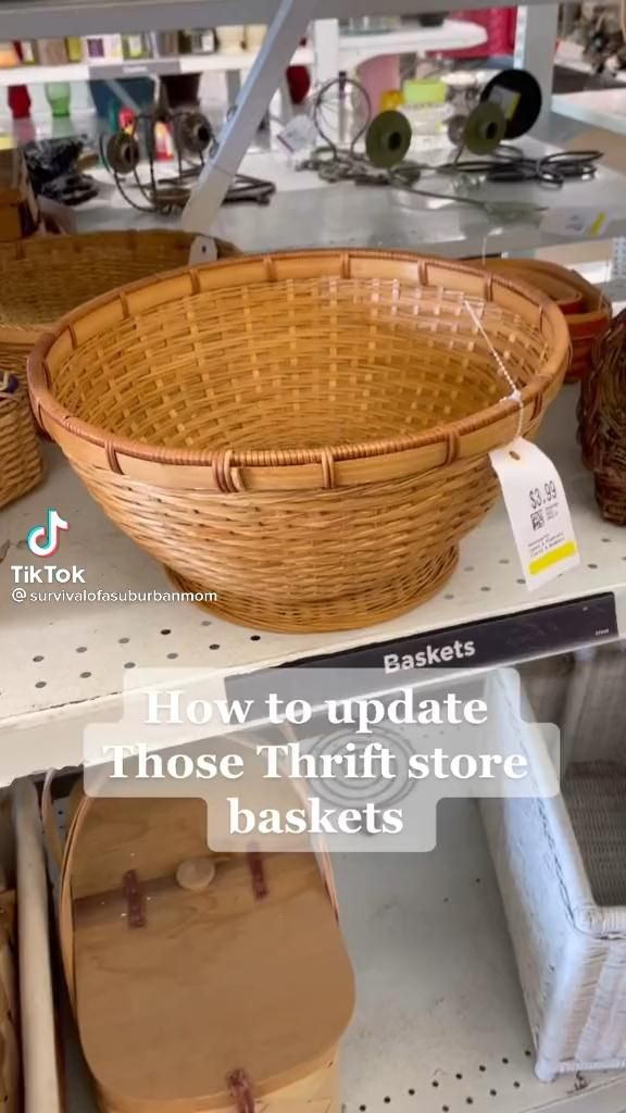 How to get the ugly brown off of Thrift Store baskets