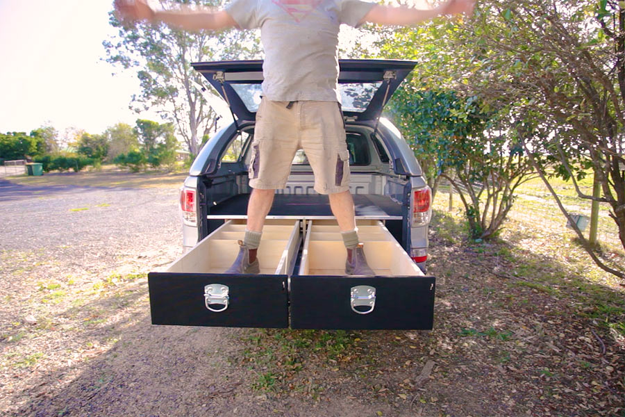 Make your own Truck Bed Drawers Truck bed storage, Truck