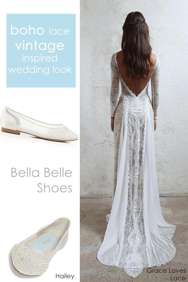Beaded Ivory Flats For Wedding Long Wedding Dresses Enchanted