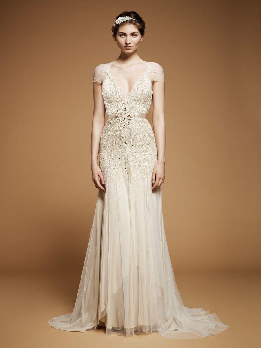 Brown wedding dresses  Jenny Packham  wedding dress  s inspired  wedding dress