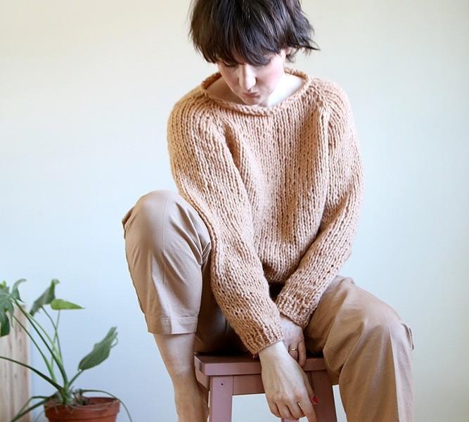 strikk genser nybegynner