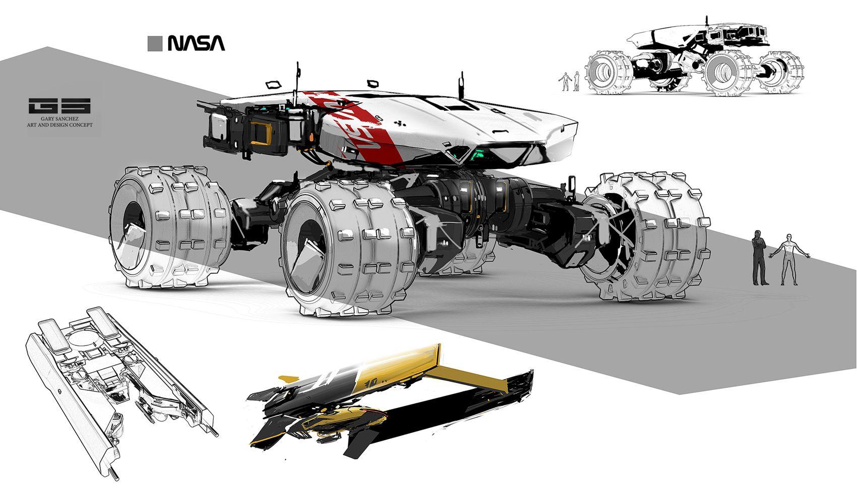 ROUGH ROVER by ANTARKTIK Sanchez Gary   Sci-Fi   2D   CGSociety ...