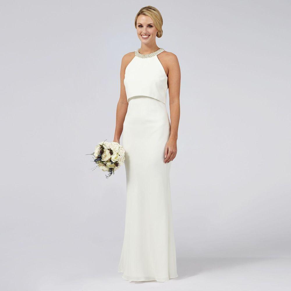 Ben De Lisi Occasion Womens Ivory Serena Wedding Dress From ...