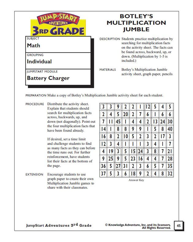 Botley S Multiplication Jumble Multiplication Worksheet For 3rd Graders Printable Math Worksheets Printable Multiplication Worksheets Multiplication