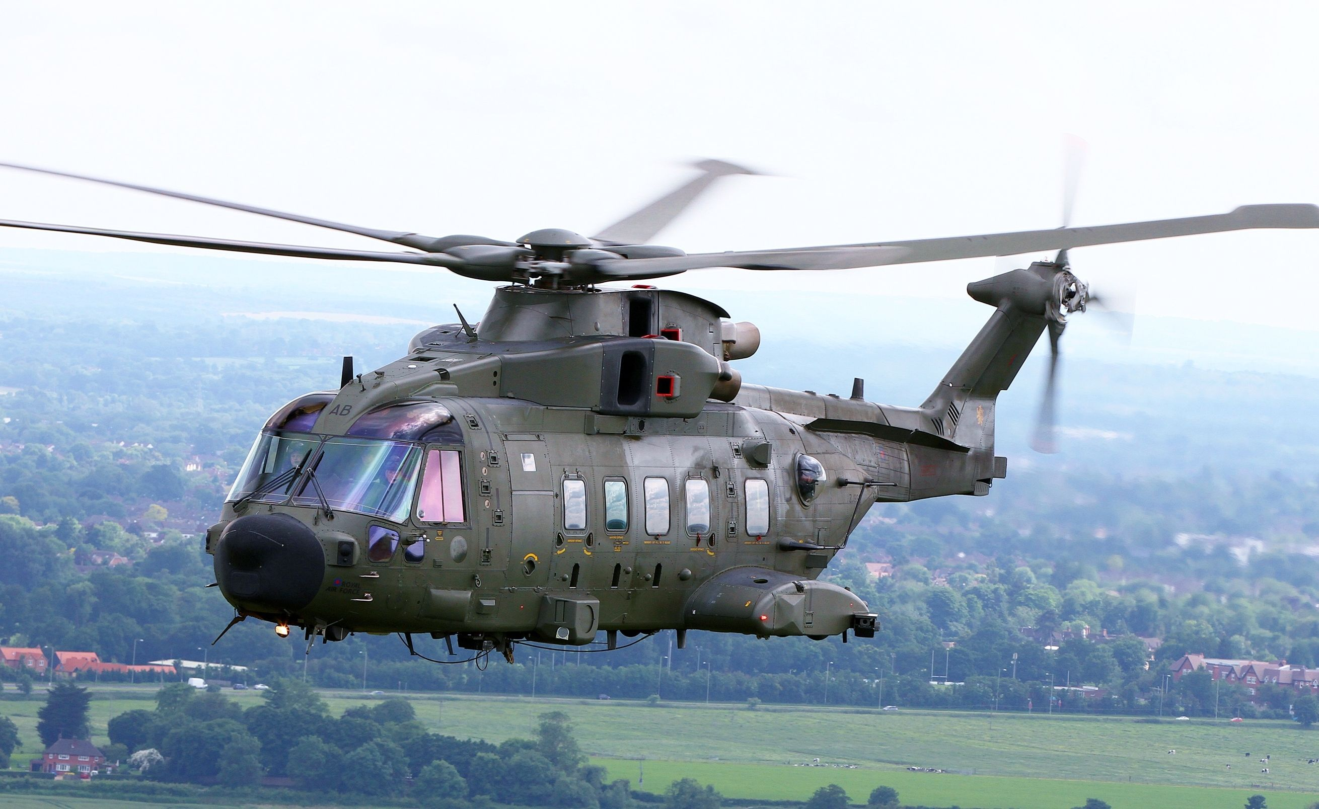 The AgustaWestland AW101 is a mediumlift helicopter used