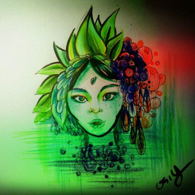 #Drawing #illustration #sketch #tattoo #custom #design #girlillustration  #indianlady #그림 #인디언소녀 #일러스트 #스케치