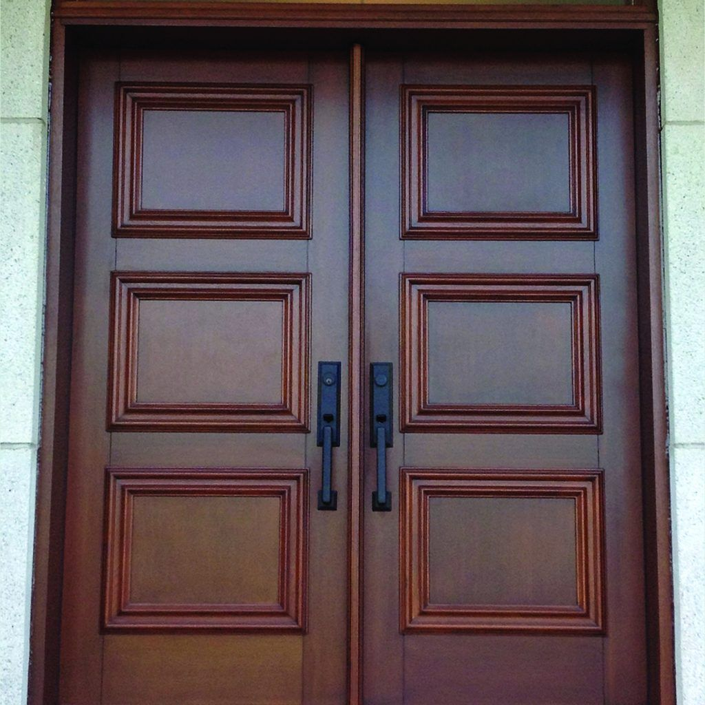 Double Exterior Doors Without Glass