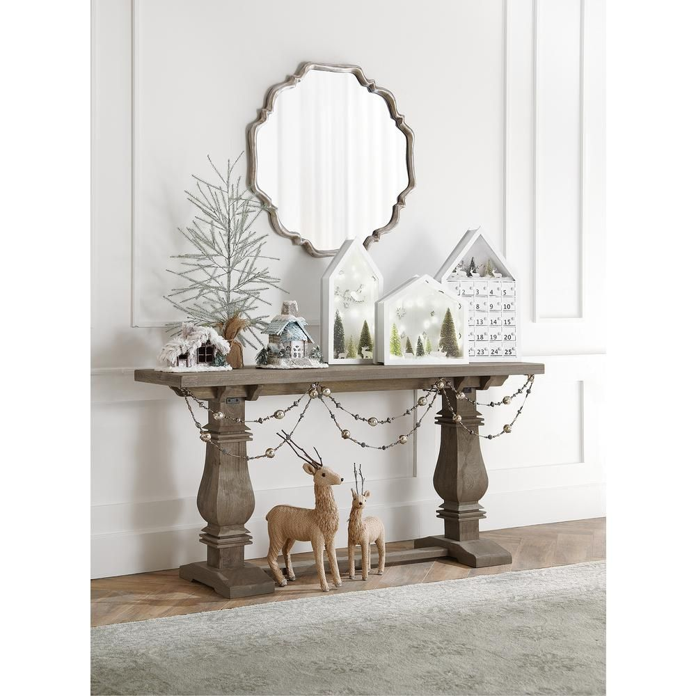 High Quality Home Decorators Collection Aldridge Rectangular Antique Grey Console Table 7511000270    The Home Depot
