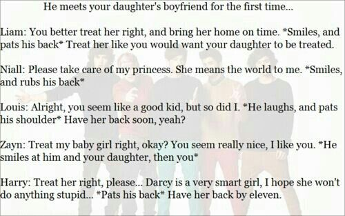 Daughters boyfriend | 1D preferences!!! | One direction