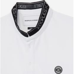 The Kooples - Weißes Baumwoll-Poloshirt mit Offizierskragen - Damen