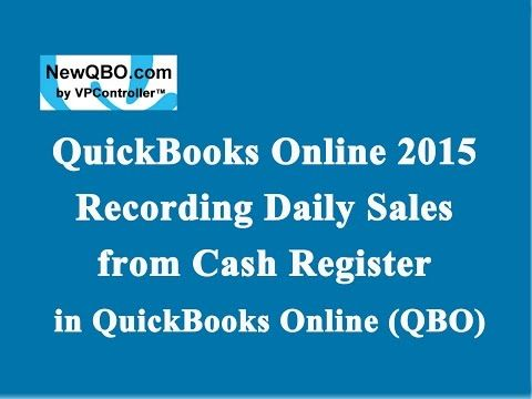QuickBooks Online 2015 Recording Daily Sales from Cash Register POS - food inventory template