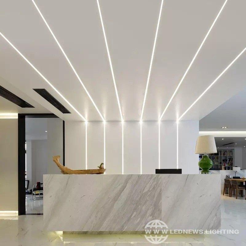 Scon Decorative Aluminum Profile Surface Mounted Recessed Led Strip Light Fixture Linear Bar In 2020 Bedroom Lighting Design Ceiling Design Modern Ceiling Light Design