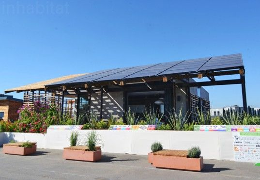 Melting Ice Cools Team ASUNM's Desert-Adapted SHADE House at the Solar Decathlon | Inhabitat - Sustainable Design Innovation, Eco Architectu...OK HERE WE GO A PERFECT EXAMPLE OF RESIDENTIAL APPLICATION AND EXACTLY WAY I HOPE TO PROVIDE MY TOTAL ENERGY NEEDS. SEE SMALL HOUSE TO LEFT ..AND THE AIRSTREAM UNDER 'CARPORT' ROOF STRUCTURE BUILT USING SOLARPAK'S (tm) SYSTEM...MEGA WATTS!