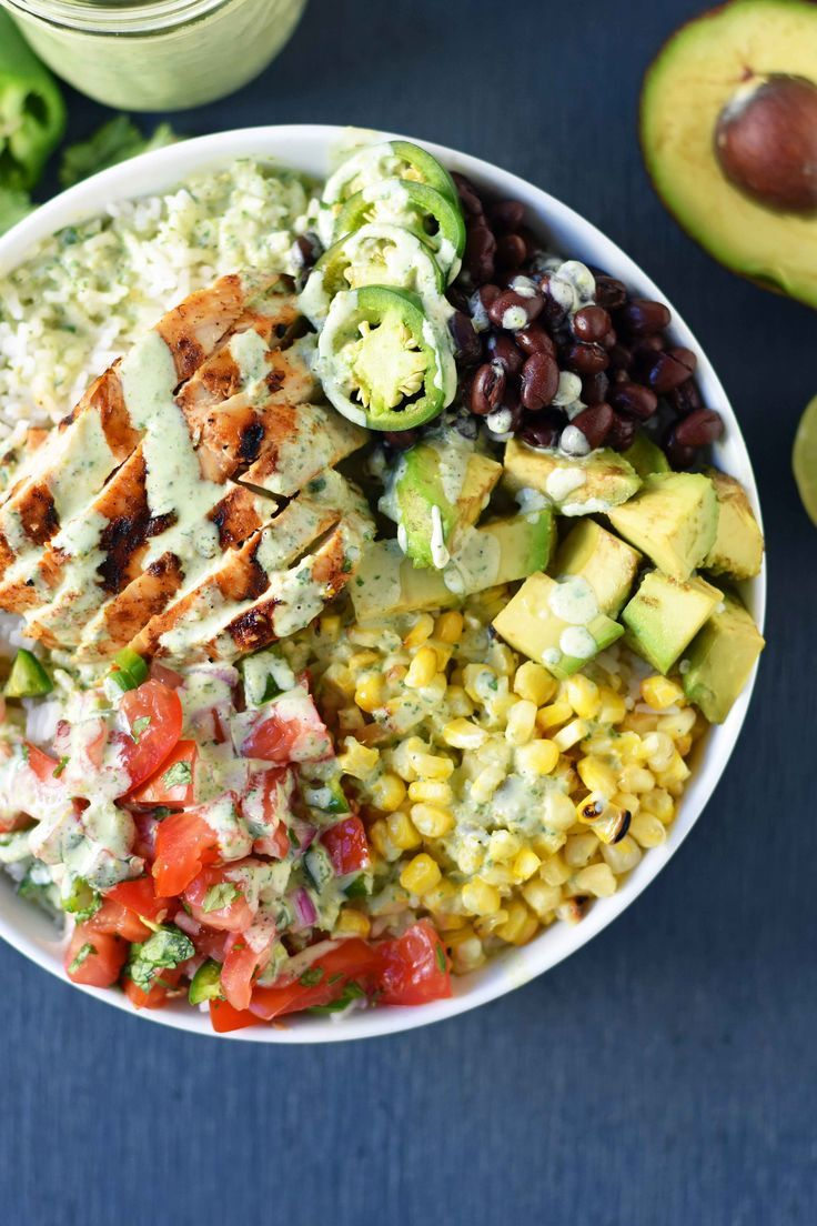 Grilled Chicken Burrito Bowls – Modern Honey