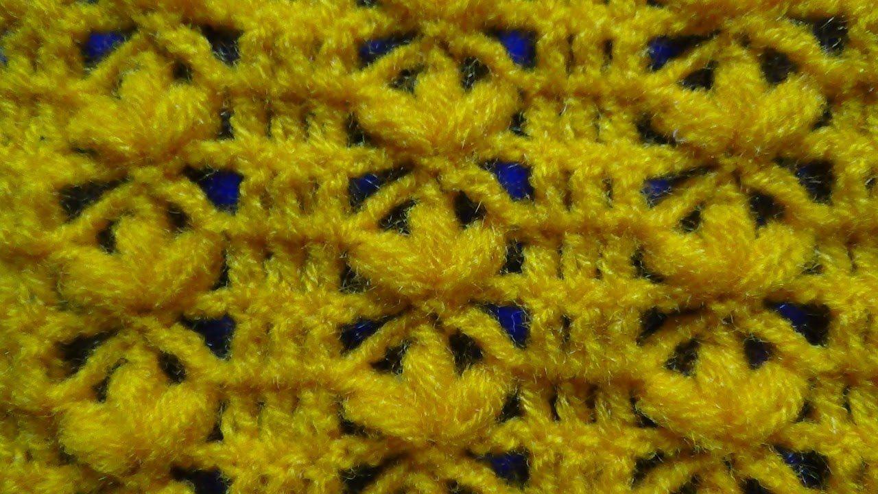 Puntos tejidos a crochet y/o ganchillo paso a paso fácil de tejer en ...