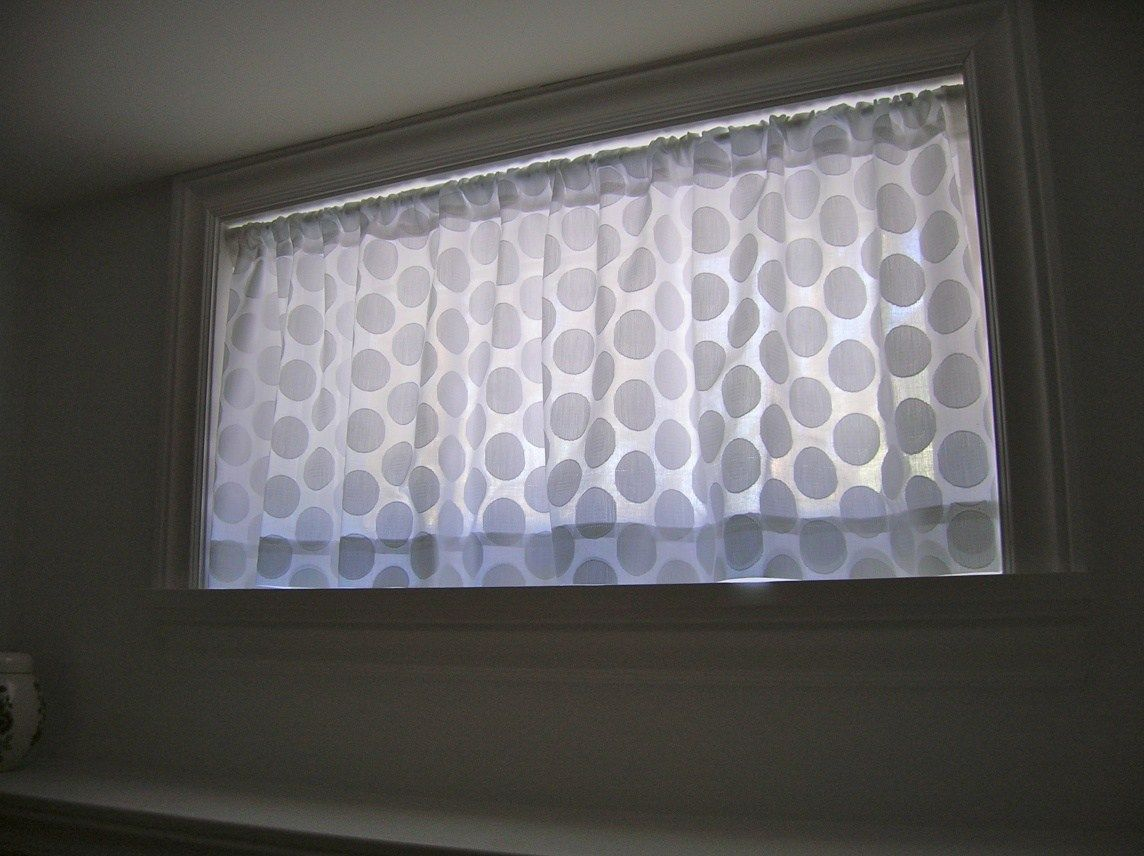How To Sew Curtains Tutorial Small Window Curtains Basement