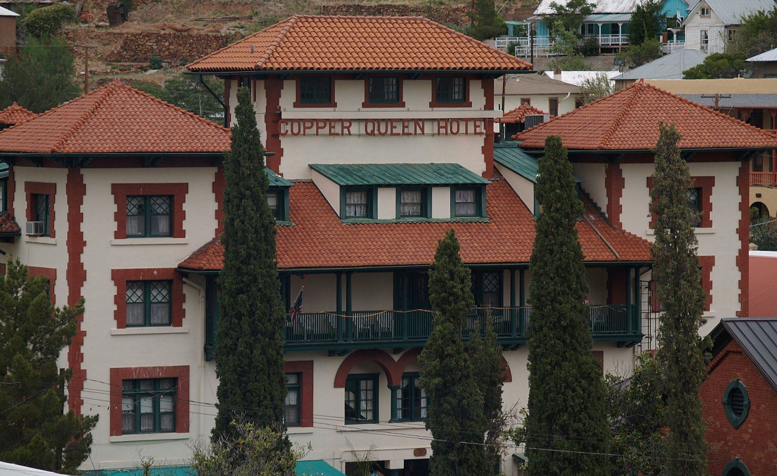 Copper Queen Hotel Bisbee Arizona There Are Reportedly Three Resident Ghosts In The One Of Ghostly Residents Is An Older