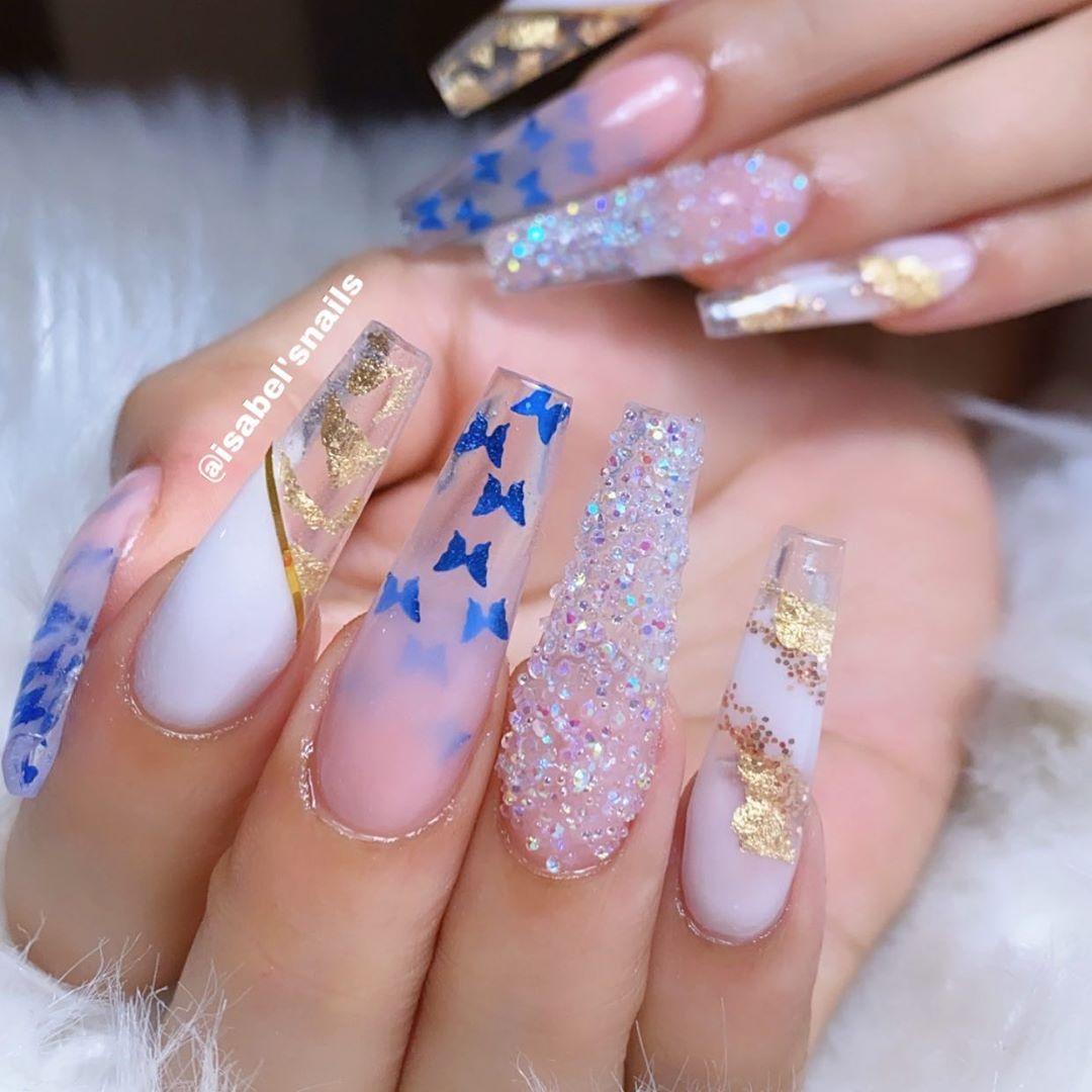 Black Empire 💙💛 | Fabulous nails, Bridal nails, Stylish nails