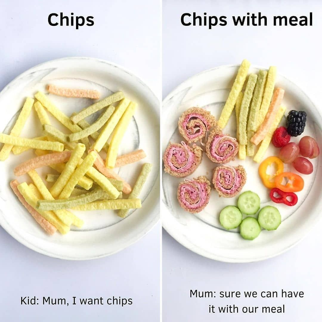 Take chips (or other processed foods) off the pedestal by serving it along with a meal.... super low calorie recipes|skinny recipes under 300 calories|healthy cake recipes low calories|meals under 400 calories recipes|low calorie recipes for one #400caloriemeals