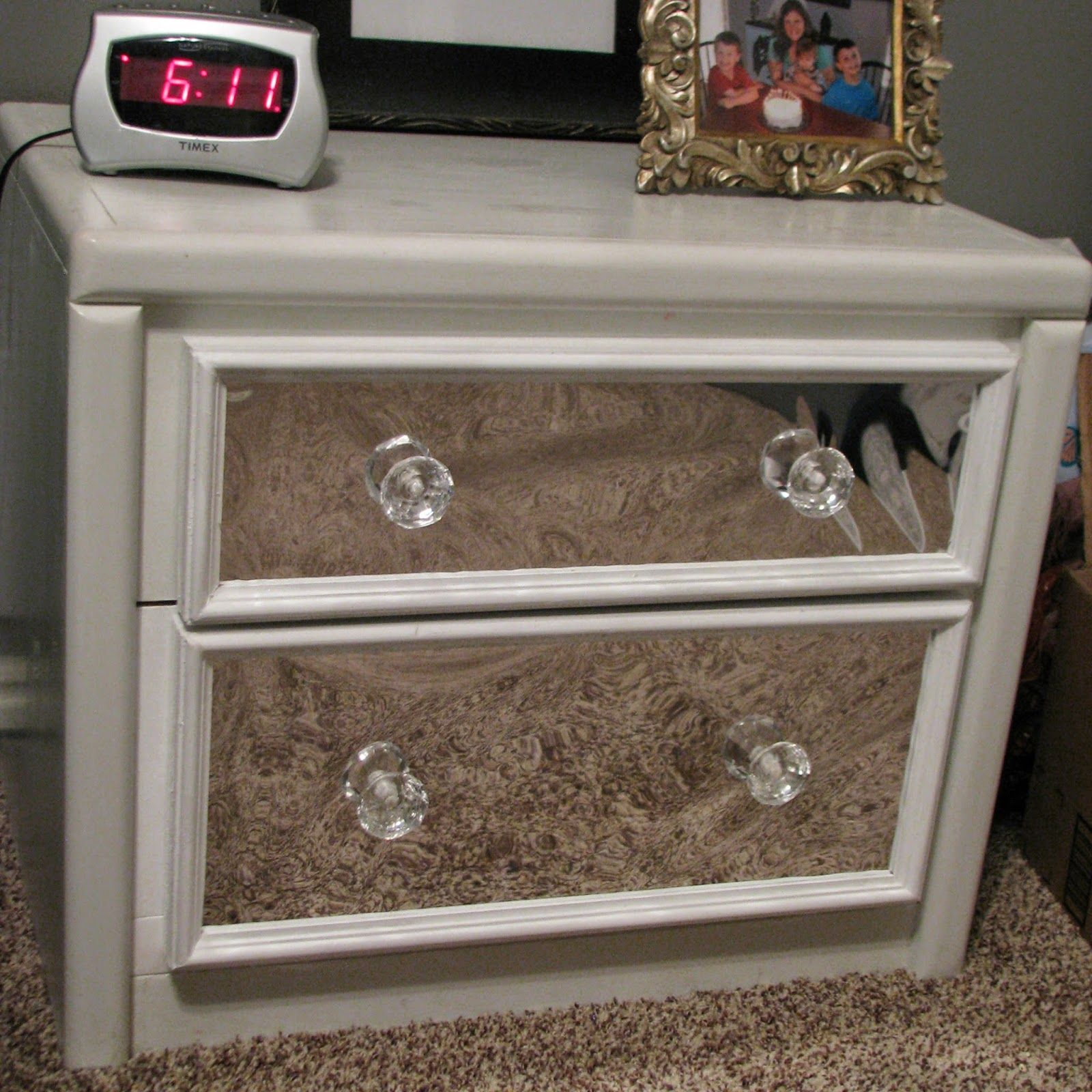 How To Add A Drawer To A Nightstand Create Faux Mirror Using