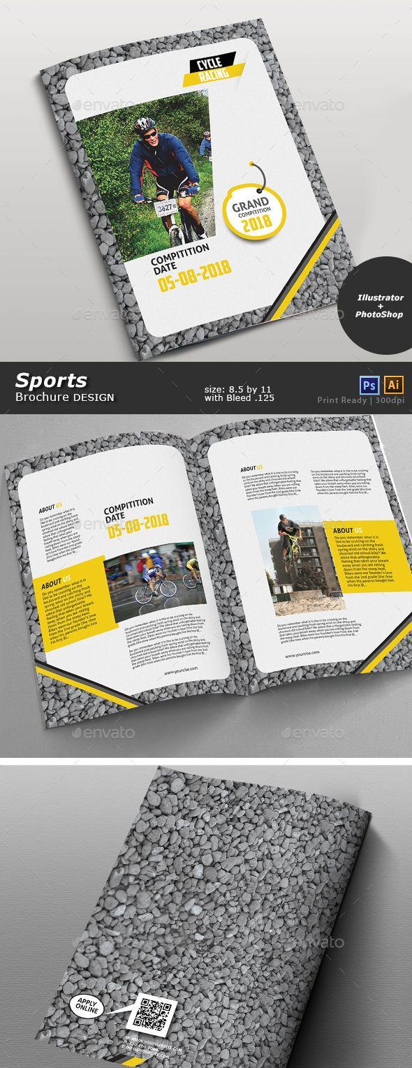 Bicycle Racing Brochure  Brochures Brochure Template And Bicycling