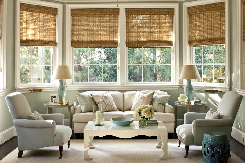 Pretty Coastal Style Blue White Sitting Room Home Beautiful Living Rooms Blinds Design