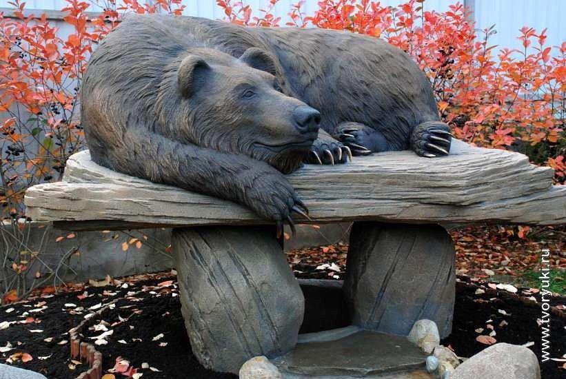 бетон медведь
