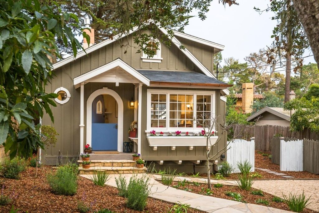 Tiny House With Blue Door