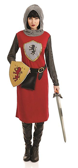 Ladies Kings Knight Knightess Medieval Fancy Dress Costume Outfit 8