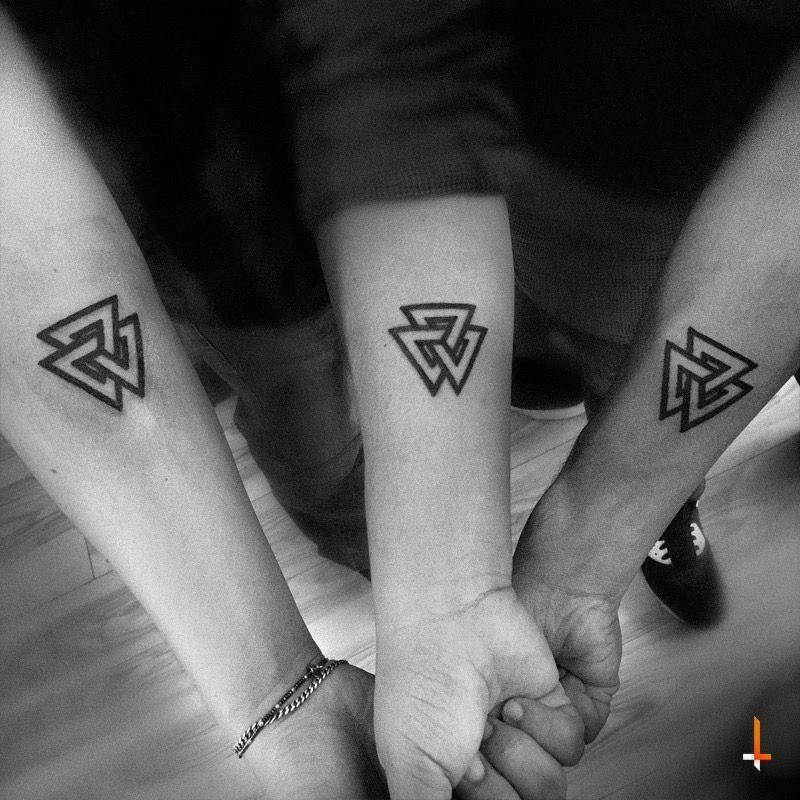 Three bros three triangle tattoo traingles for Triple triangle tattoo