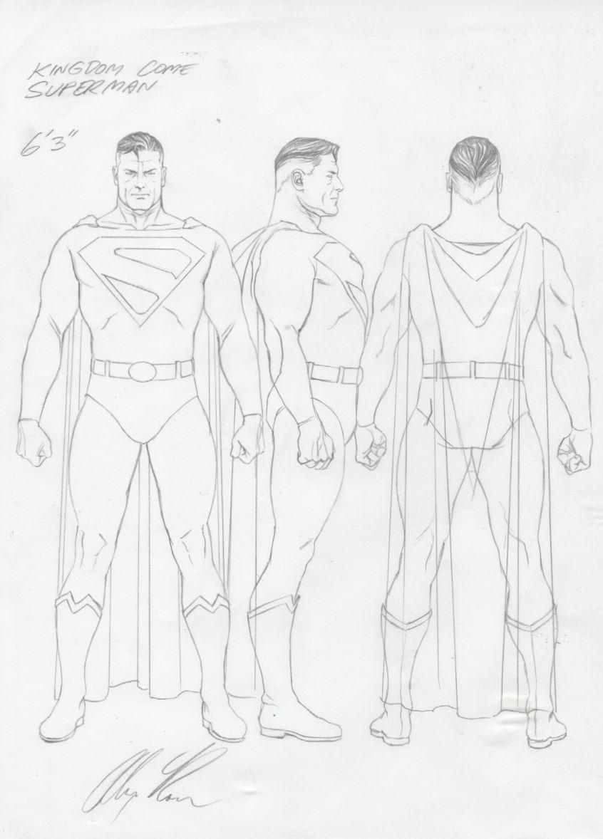 Alex Ross Superman Model Sheet Comic Art Con Imagenes