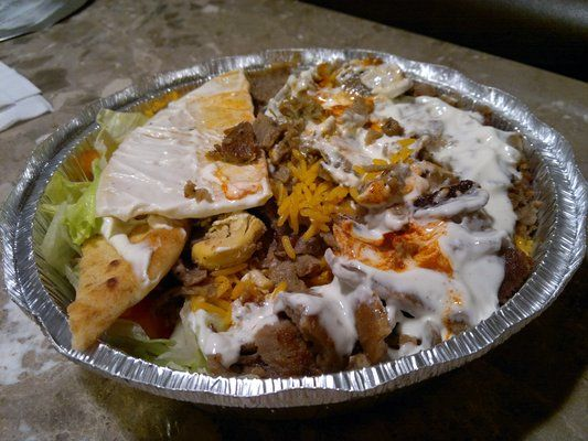 The Halal Guys Midtown West New York Ny Yelp Food Halal Recipes Middle Eastern Recipes