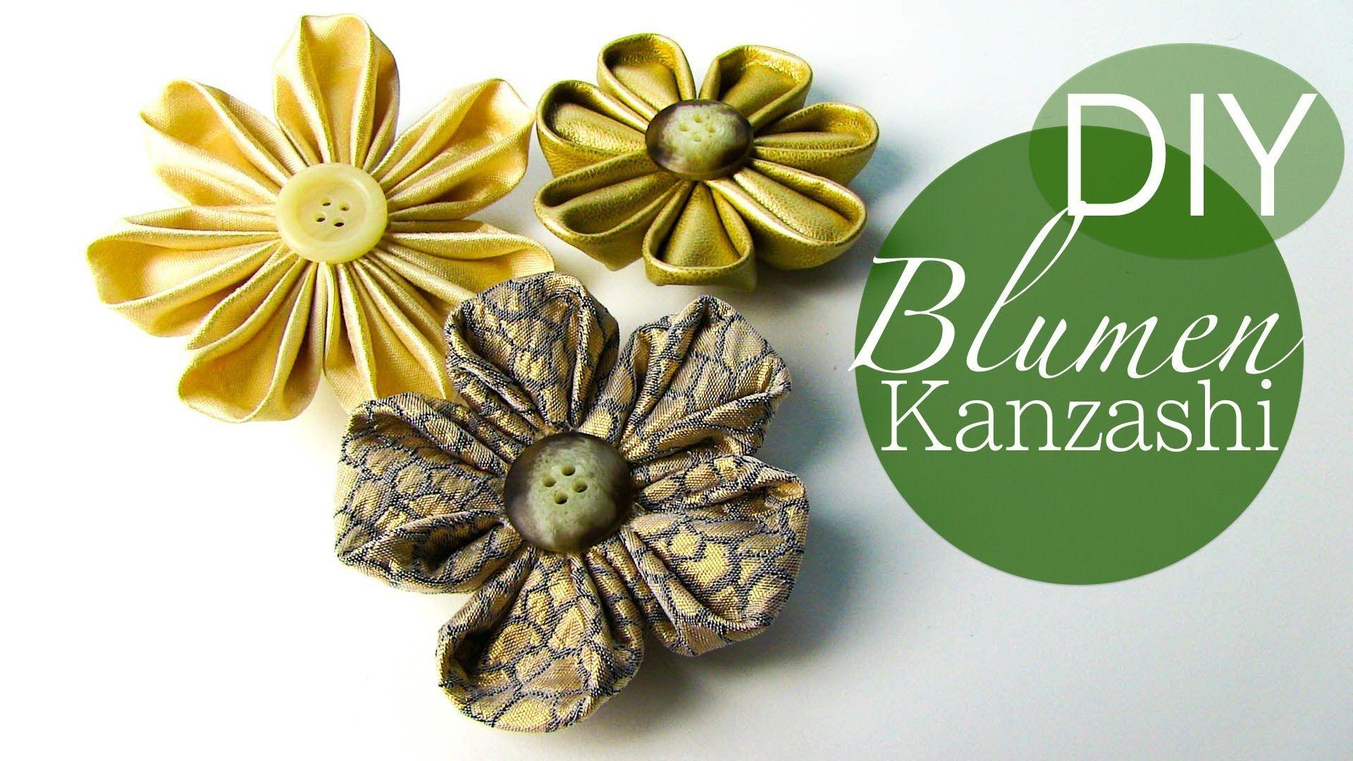Diy Blumen Kanzashi Blumen Aus Stoff Stoffblumen Textile