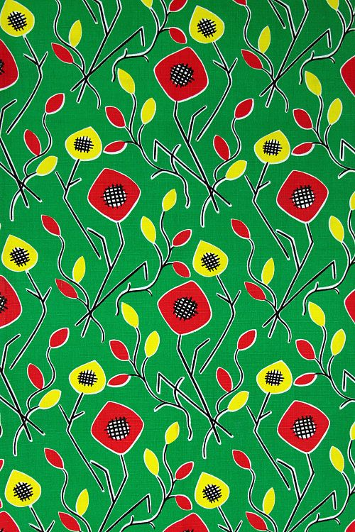 1950s french curtain fabric