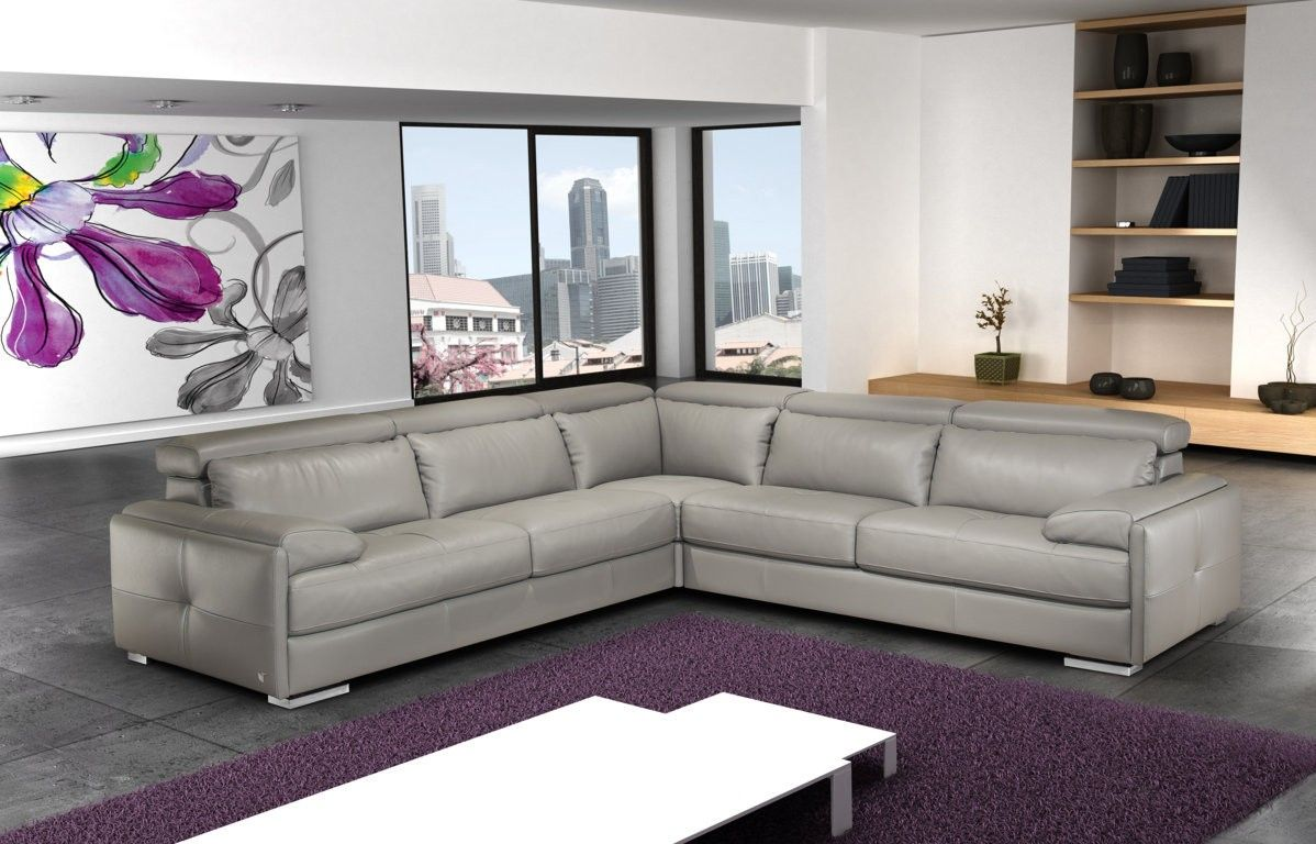 Gary Leather Sectional By Nicoletti Sovremennyj Sekcionnyj Divan