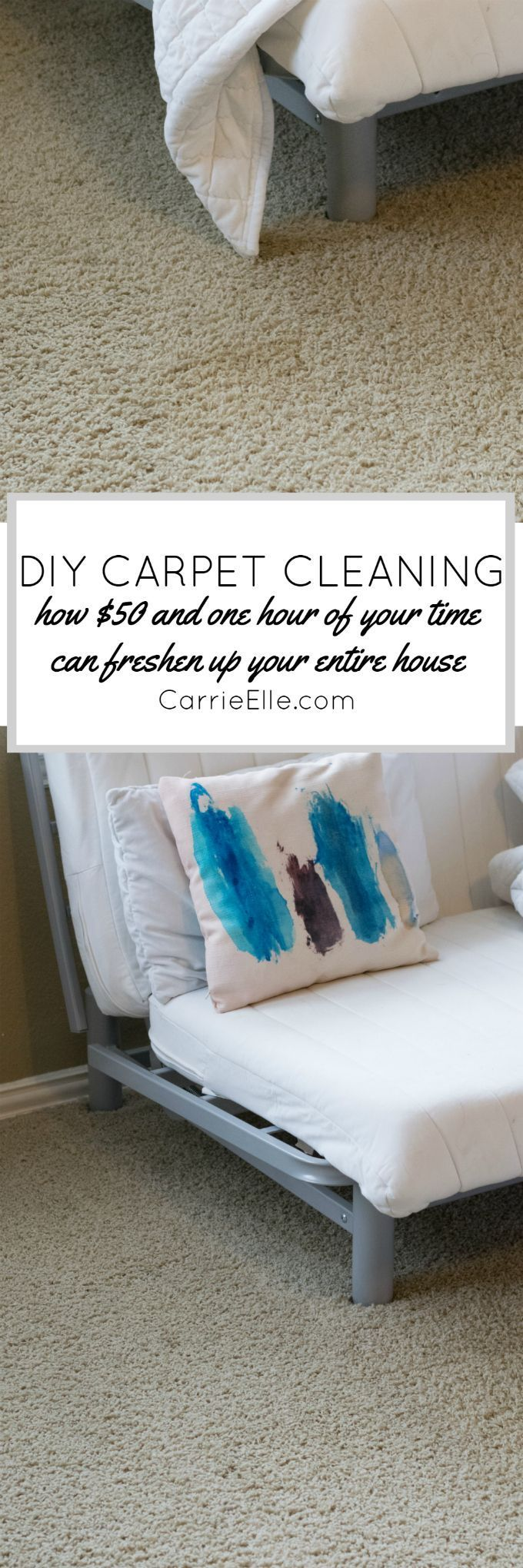 DIY Carpet Cleaning: How $50 and One Hour of Work Freshened Up Our Entire House ...,  #Carpet #cleaning #DIY #Entire #Freshened #hour #House #Work
