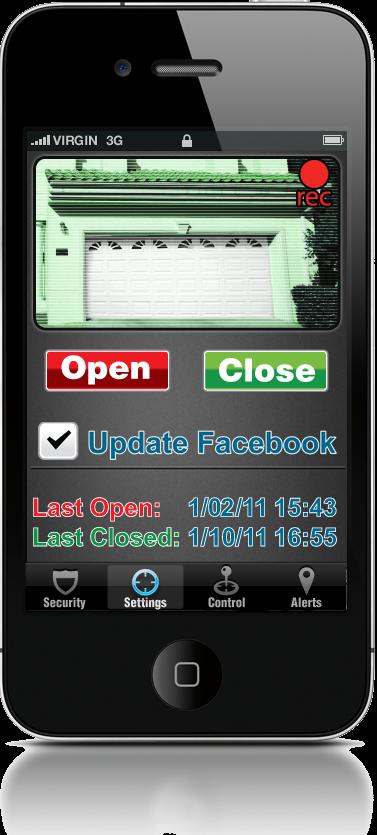 Garage Door Opener App >> Iphone App For Precision Garage Door Openers You Can Open Close